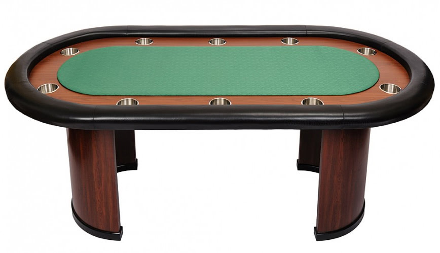 Classic 10 person poker table with arc legs green sb10 for 10 person poker table top