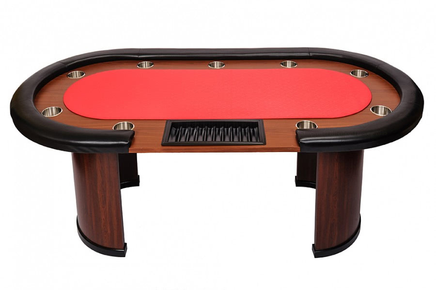 9 person casino poker table with dealer position red top for 10 person poker table top
