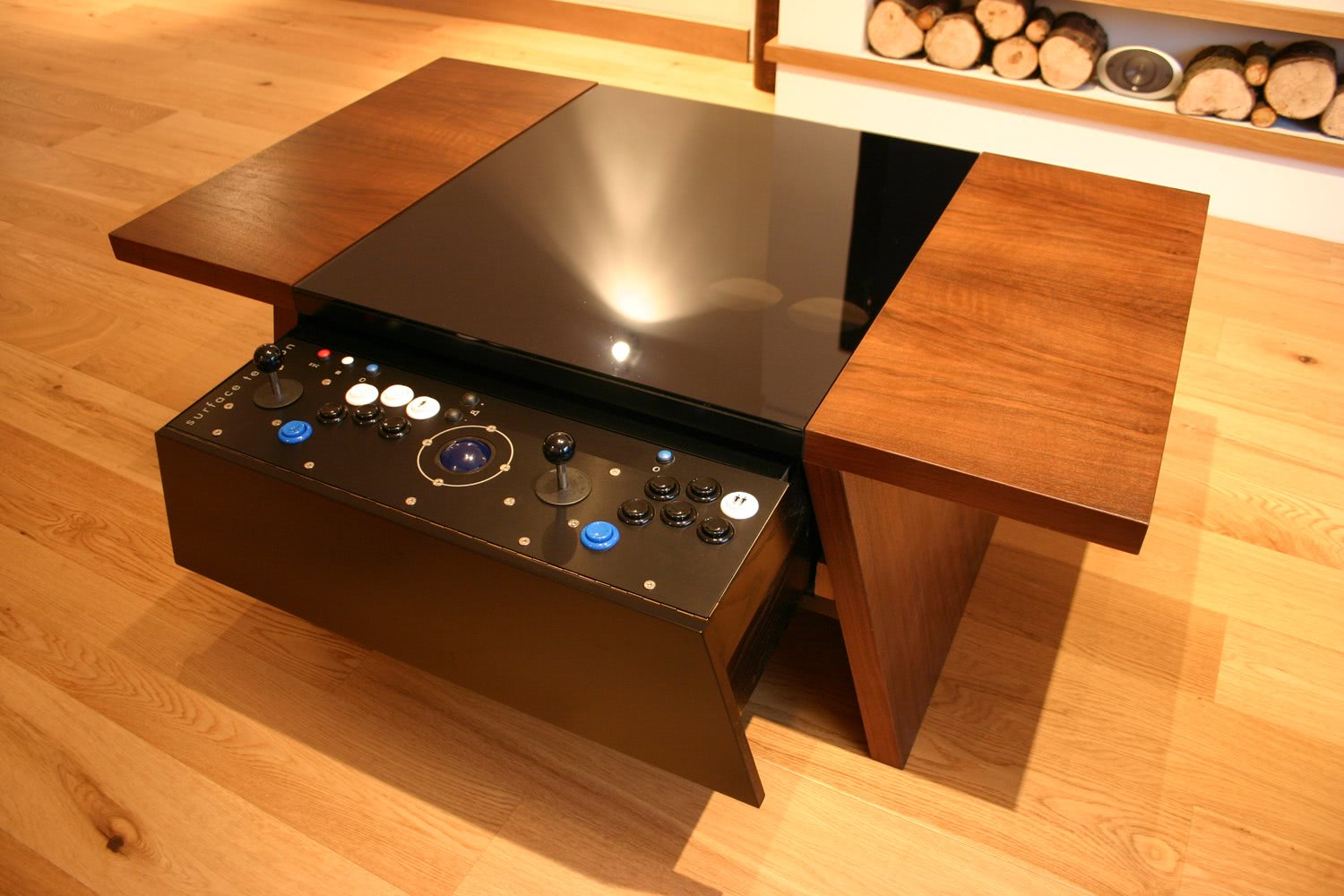 double 7 contemporary arcade coffee table liberty games