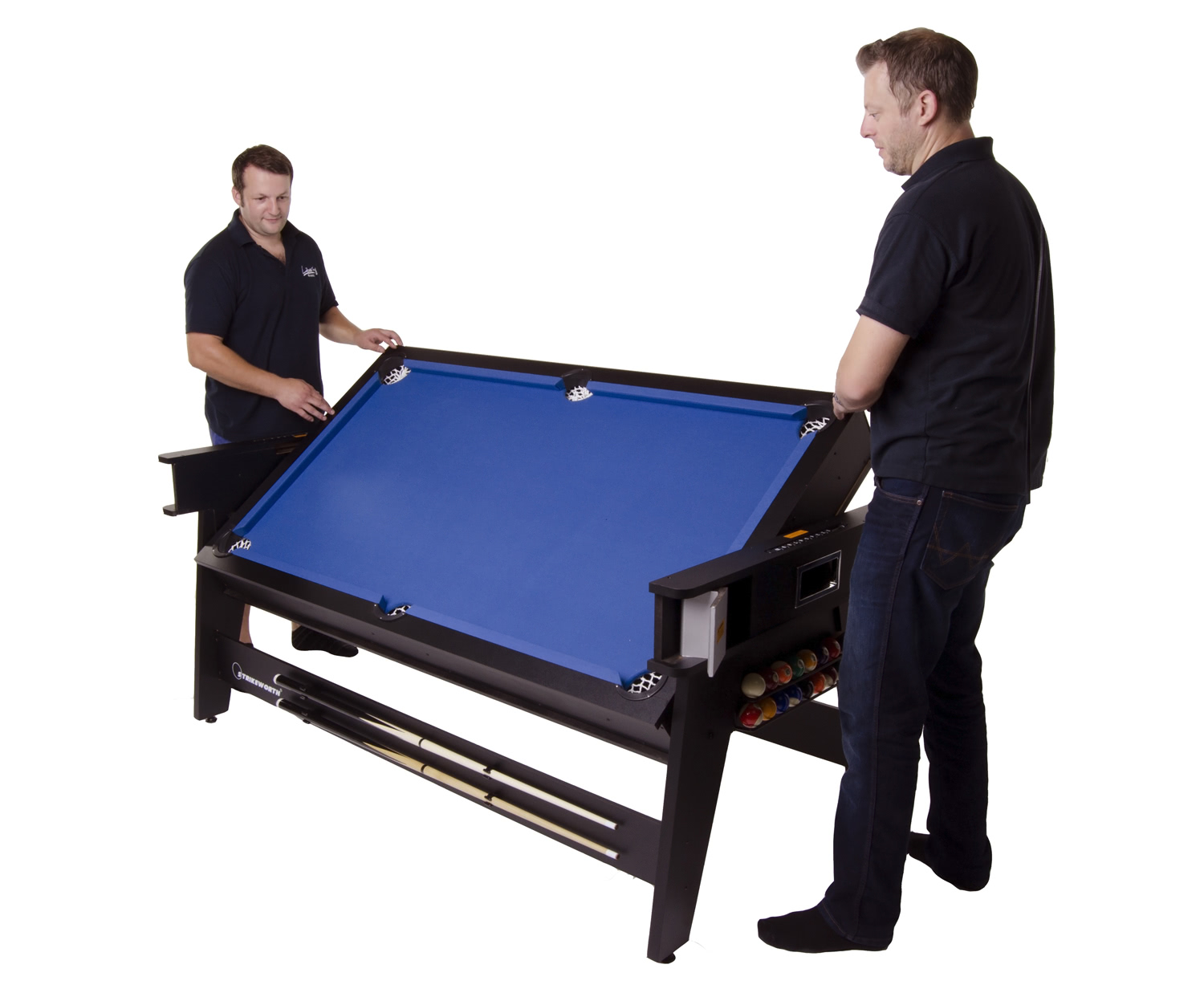 Strikeworth 6 foot multi games table liberty games for Rotating dining table