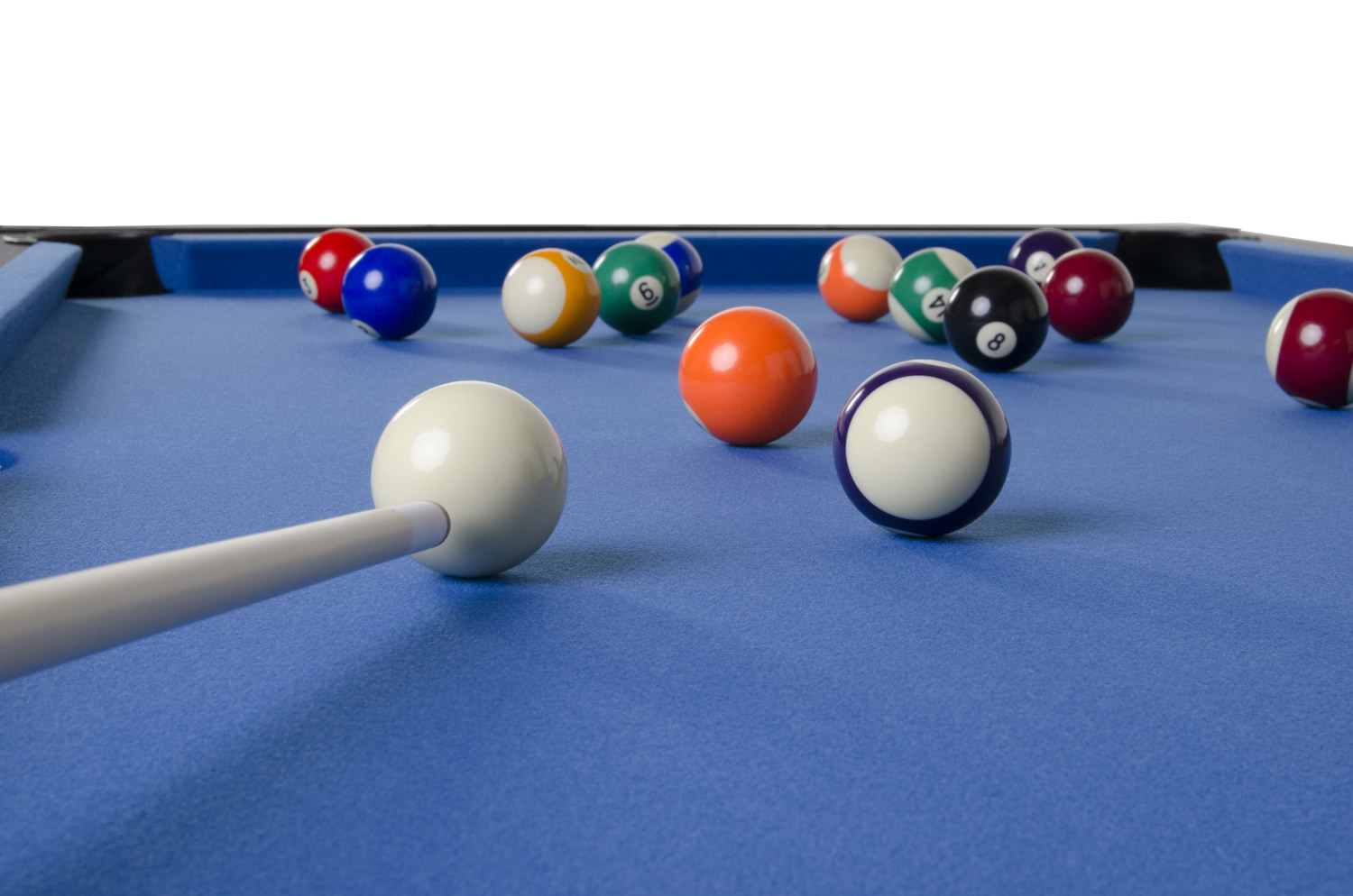 Pool Balls On The 6ft Multi Game Pool Table