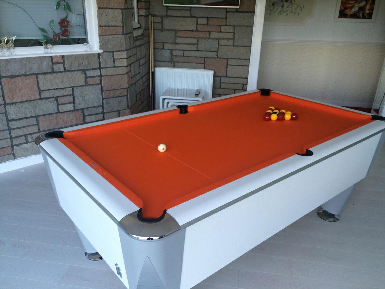SAM Atlantic Pool Table Ft Ft Liberty Games - White billiard table