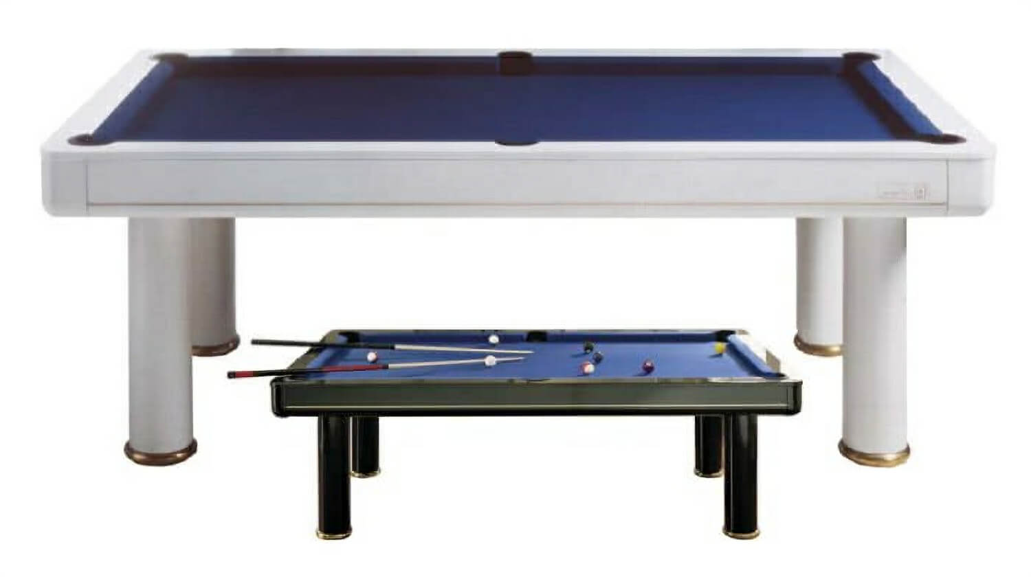 Elegant Pool Dining Table   In Black Or White Finish