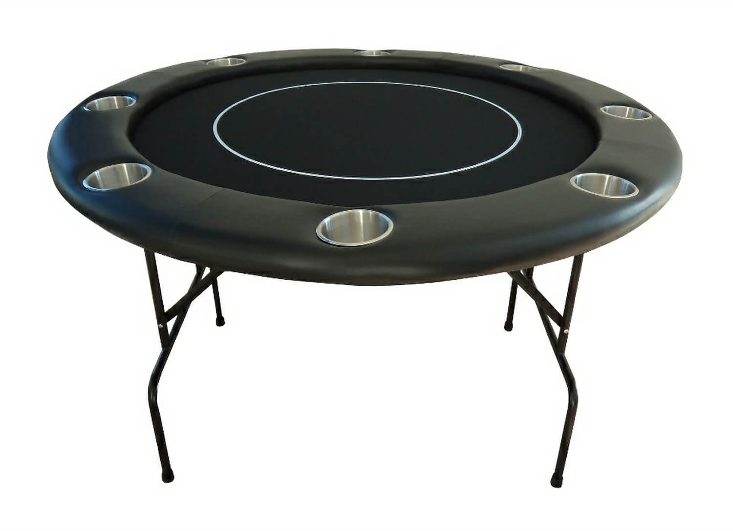 Round Poker Table With Folding Metal Legs Liberty Games