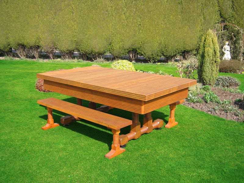 Evergreen Classic Outdoor Pool Table - 6 ft, 7 ft, 8 ft