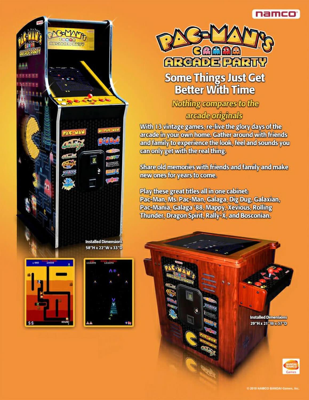 Namco Pac Man S Arcade Party Upright Arcade Machine