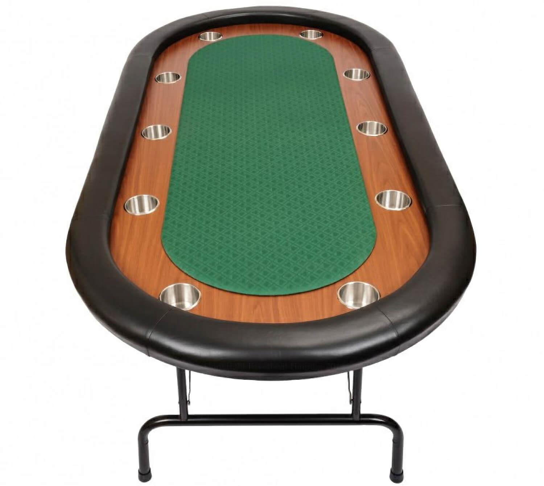 Premium Tournament Poker Table Green Wfoldtable Green