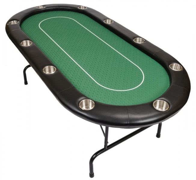 10 person pro poker table green bcfolding green
