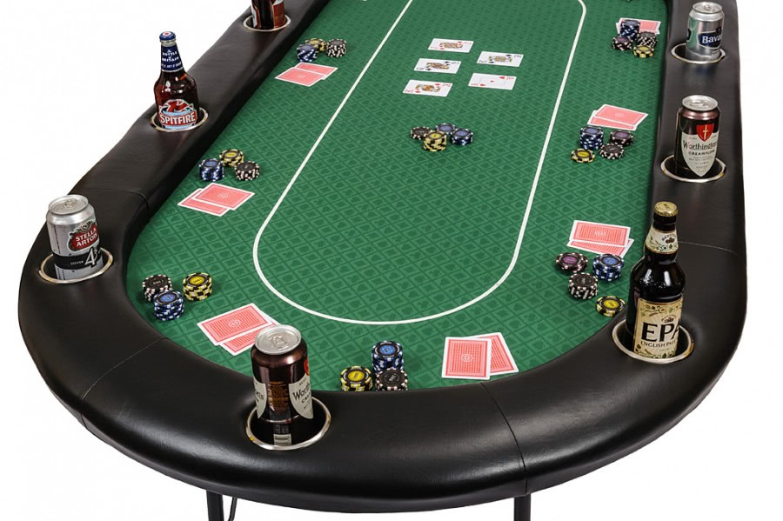 10 person pro poker table green bcfolding green. Black Bedroom Furniture Sets. Home Design Ideas
