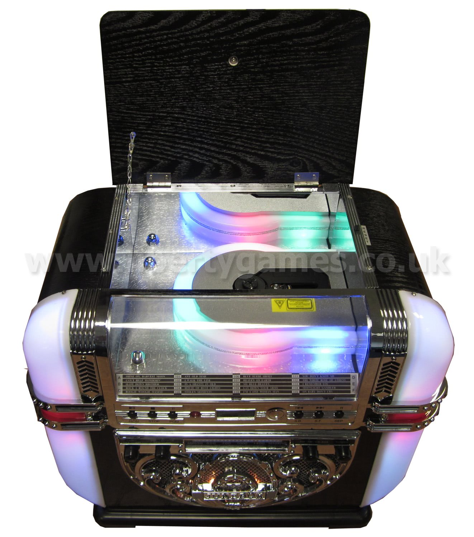Ricatech Bar Top Cd Radio Amp Mp3 Player Replica Jukebox