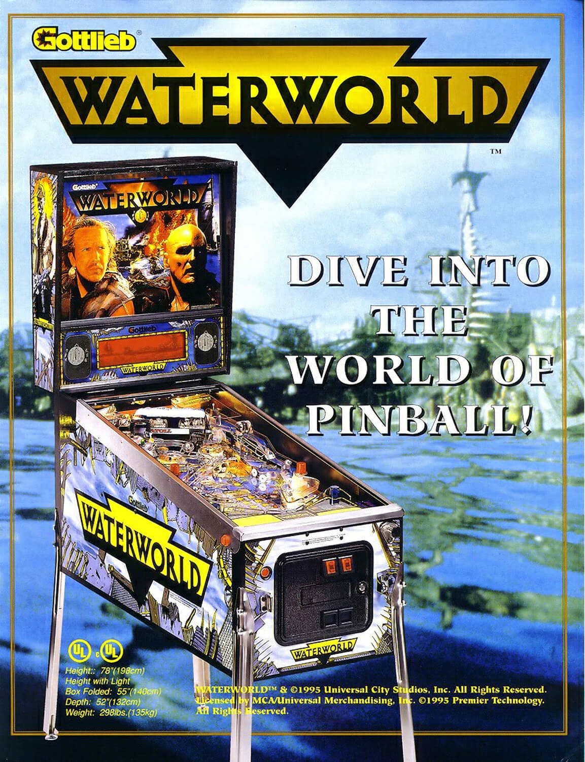 Waterworld Pinball Machine Liberty Games
