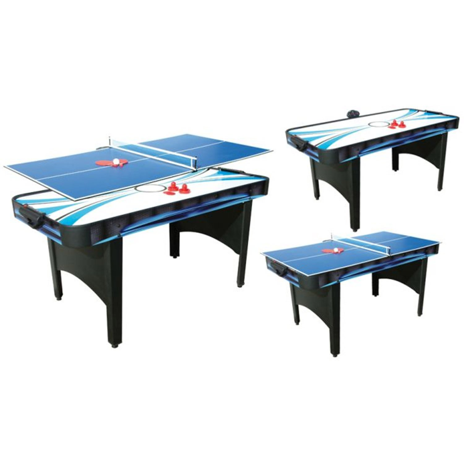 Typhoon 2 in 1 air hockey table tennis table liberty games for Table hockey