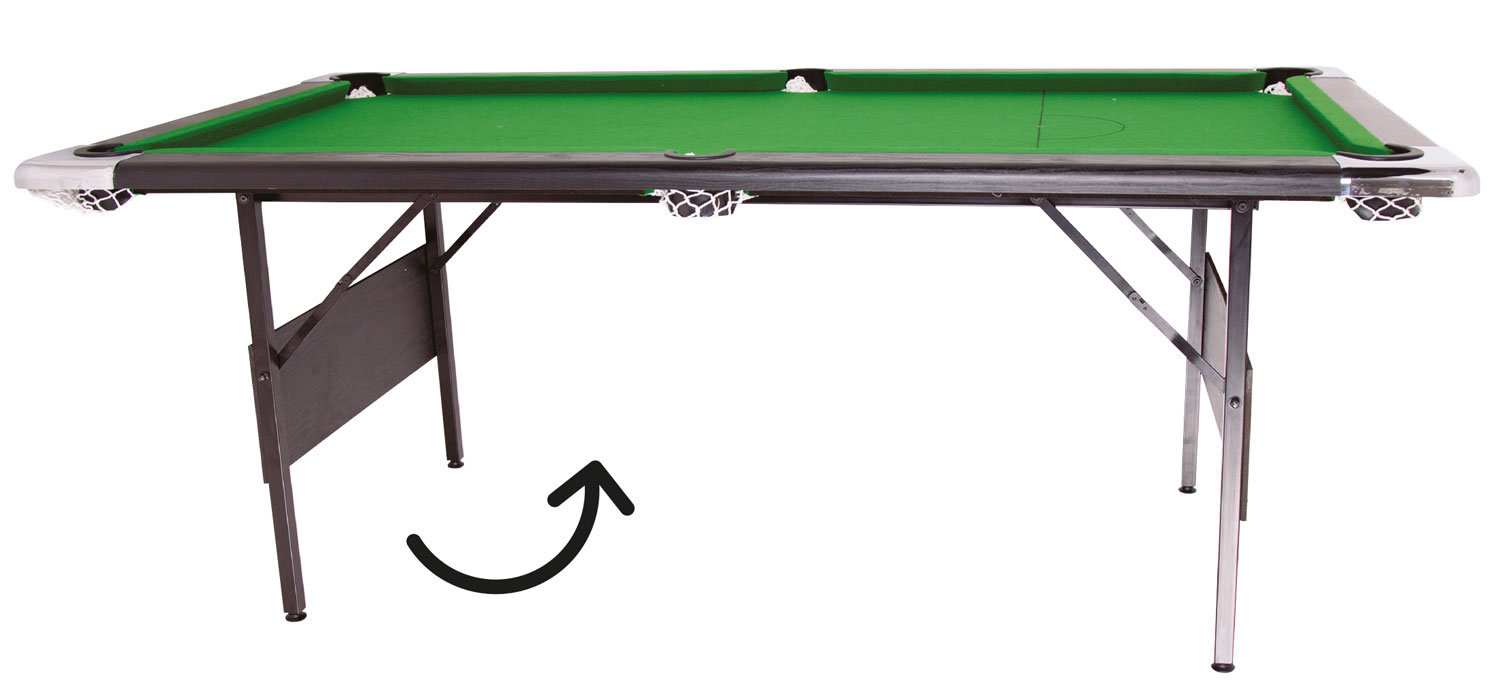 Folding legs pool table for sale - Hustler Pool Table Showing Folding Legs