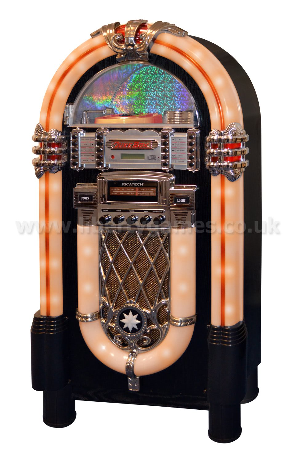 Ricatech Multimedia Rock N Roll Replica Jukebox Rr950