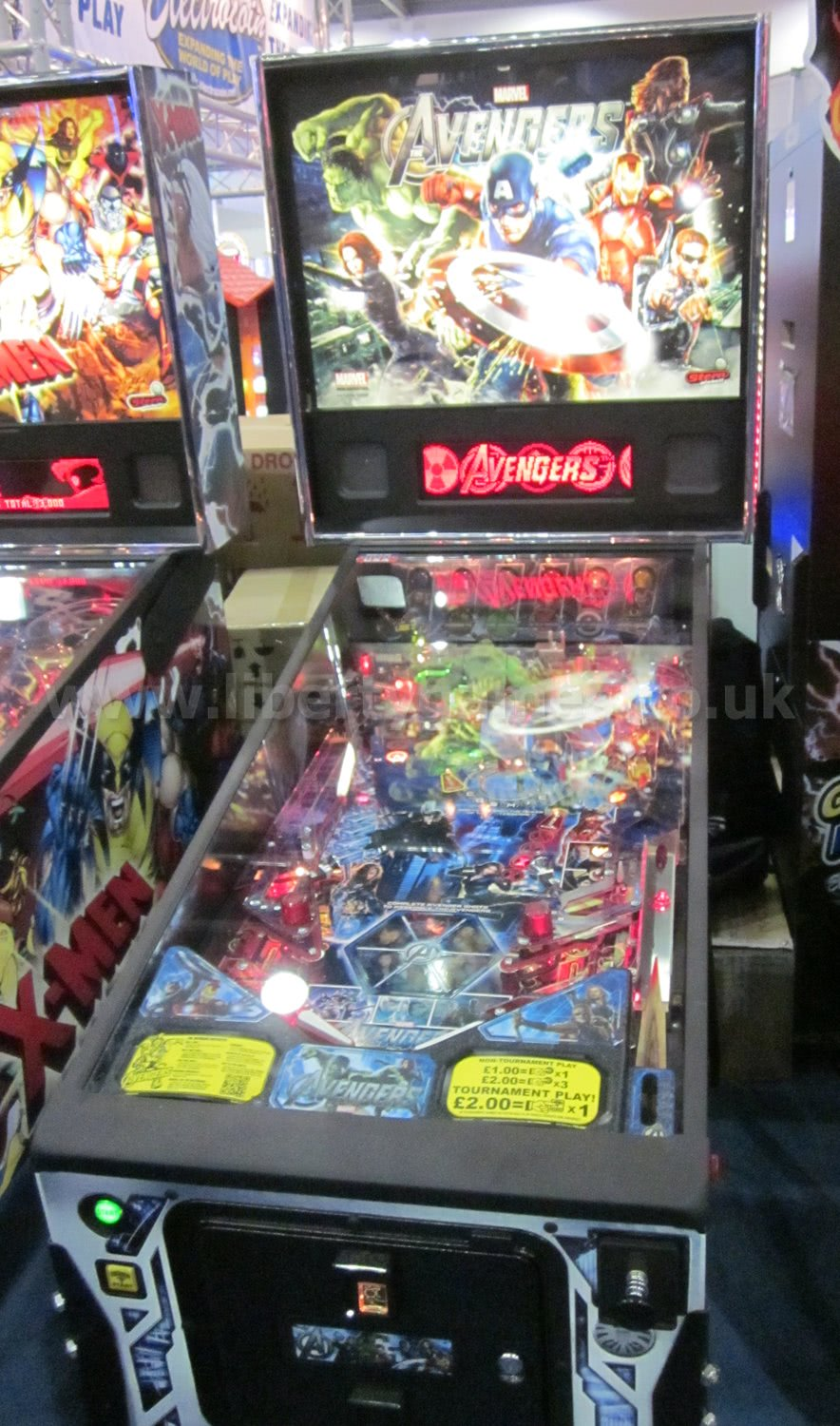 avengers pinball table