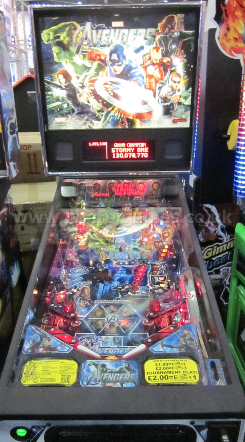 Avengers Pinball Table Liberty Games