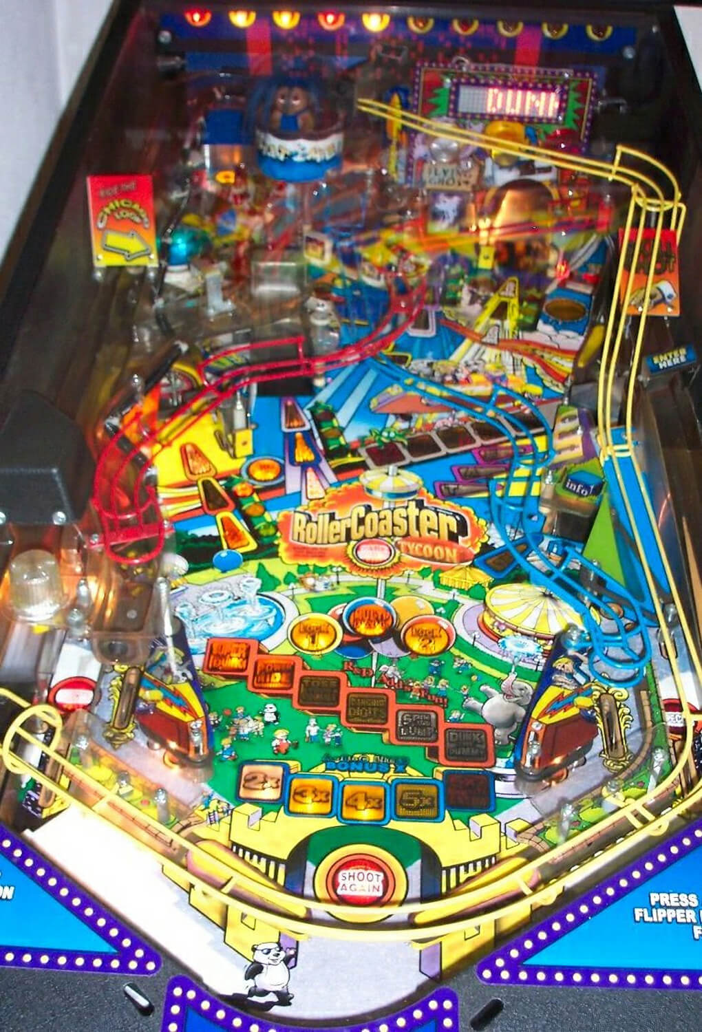 Rollercoaster Tycoon Pinball Machine Liberty Games