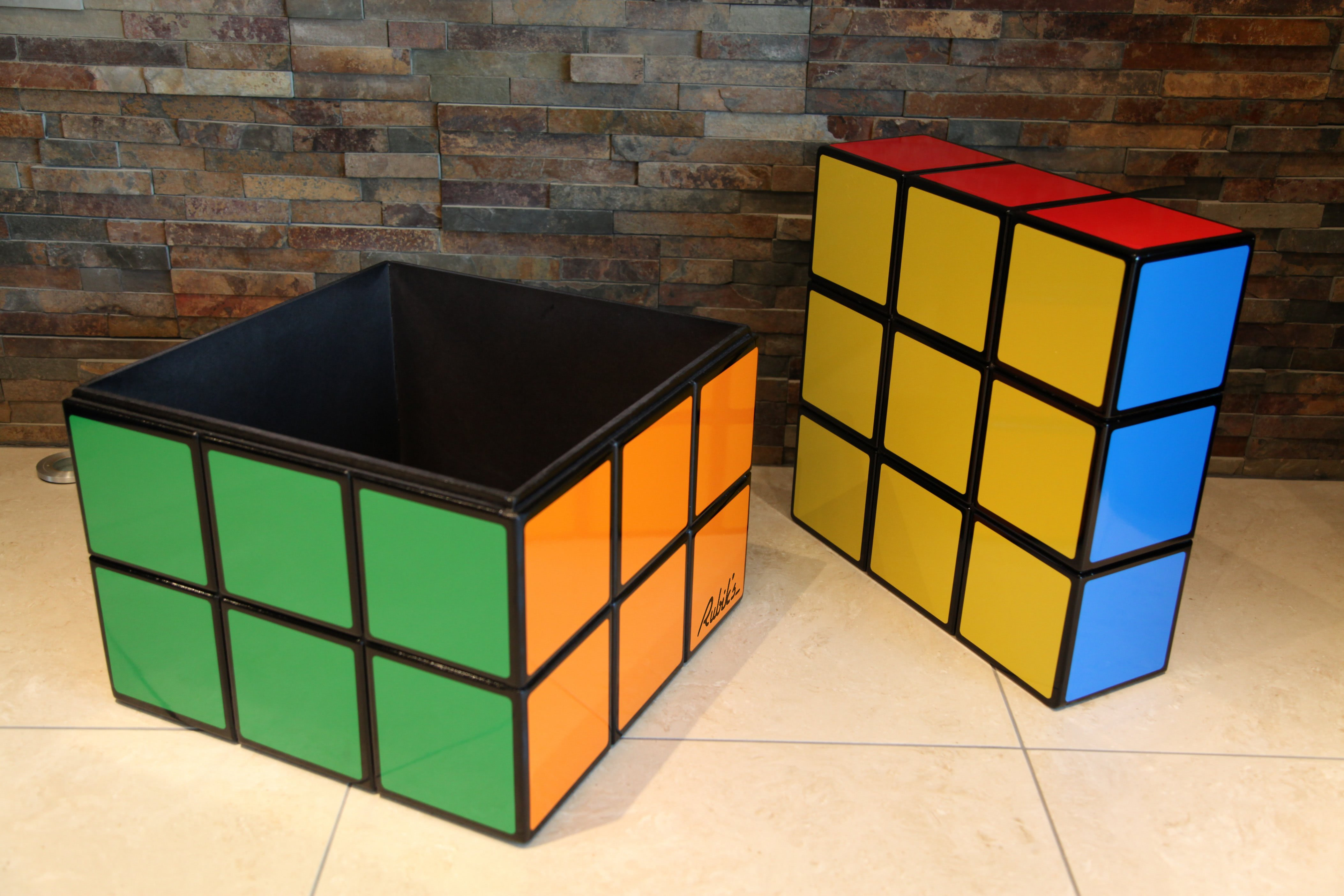Rubiks Cube Seat Storage Table Liberty Games
