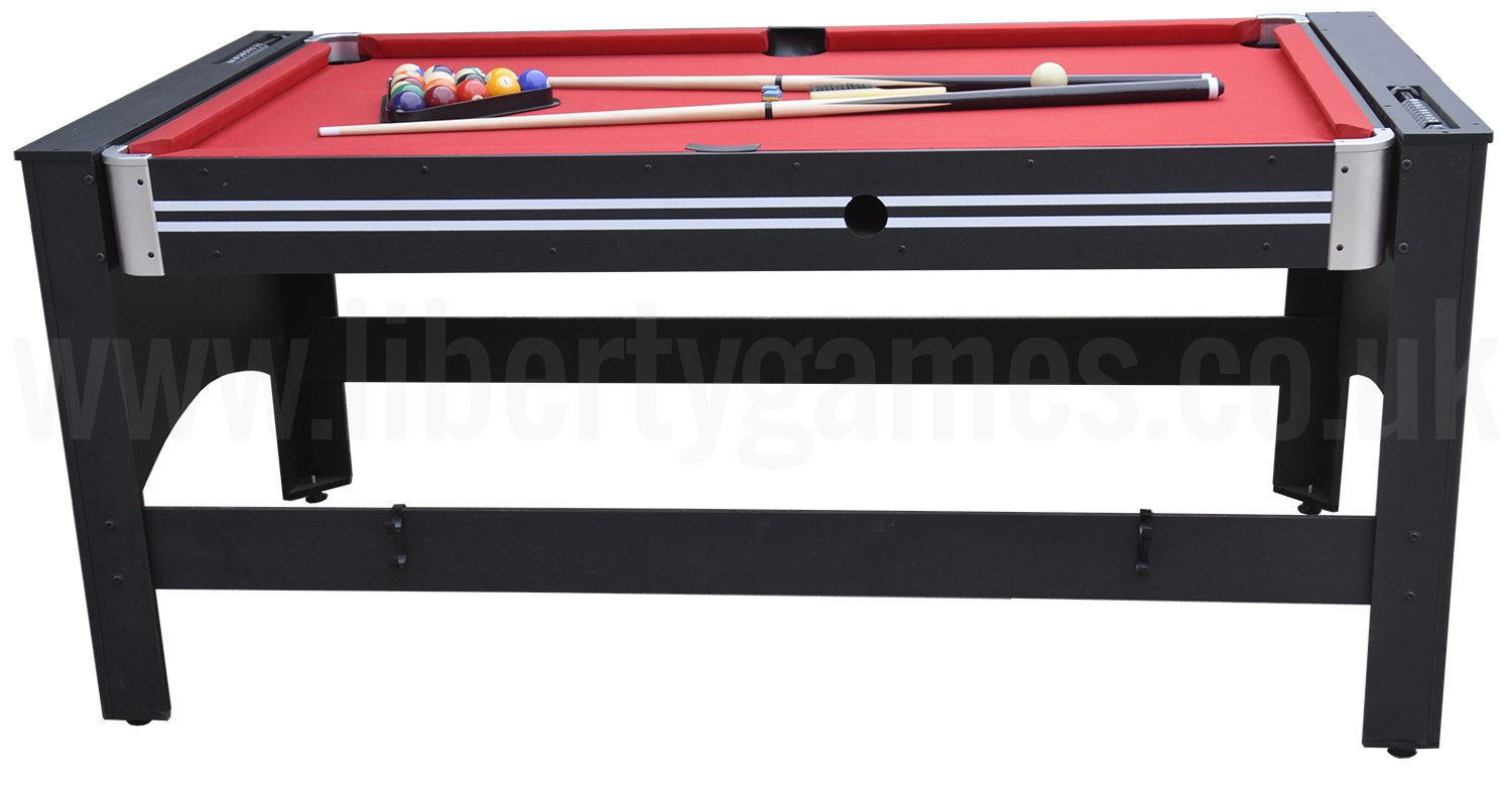 Strikeworth 4 in 1 multi games table with red cloth for 11 in 1 game table