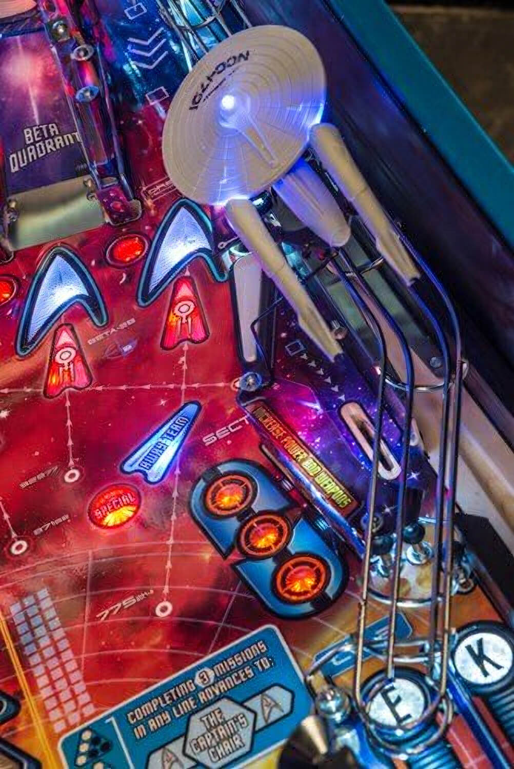 Stern Star Trek Premium Pinball Machine Liberty Games