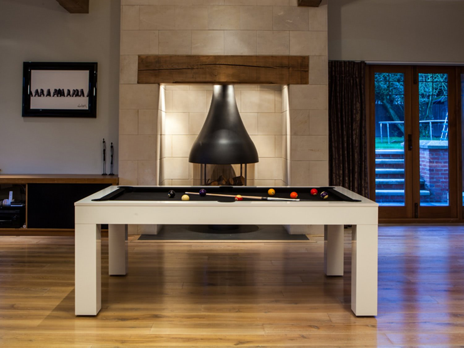 Duo Milano Piano White Pool Dining Table Liberty Games