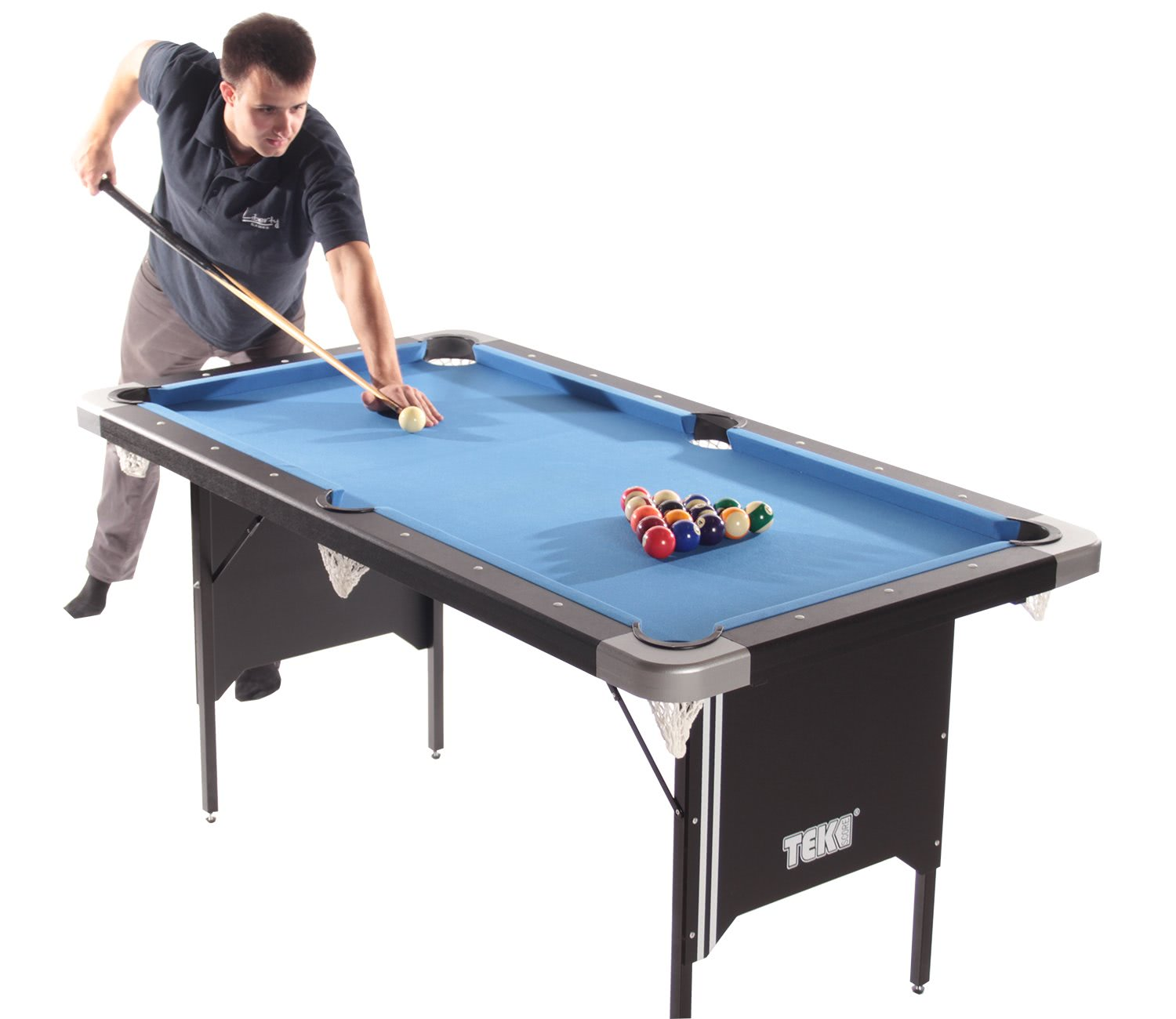 Tekscore folding leg pool table with table tennis top - Pool table images ...