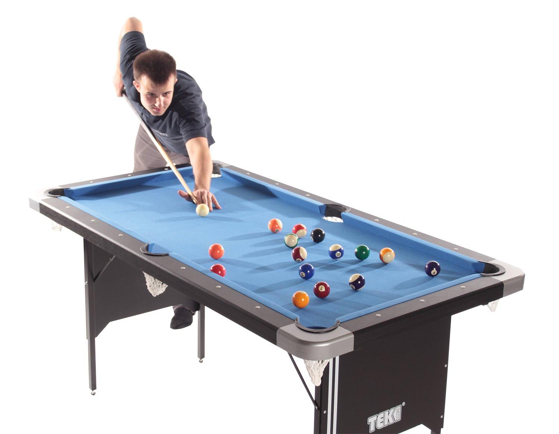 Tekscore Folding Leg Pool Table With Table Tennis Top