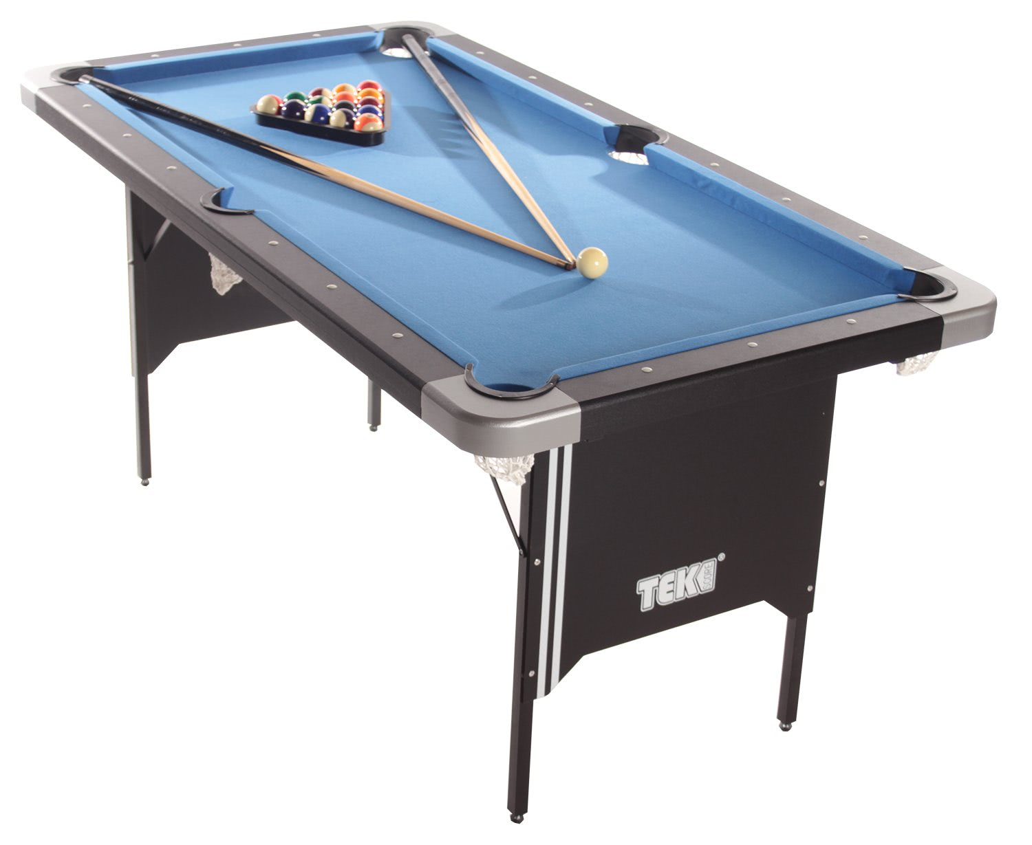 Folding legs pool table for sale - Tekscore Folding Pool Table With Table Tennis Top