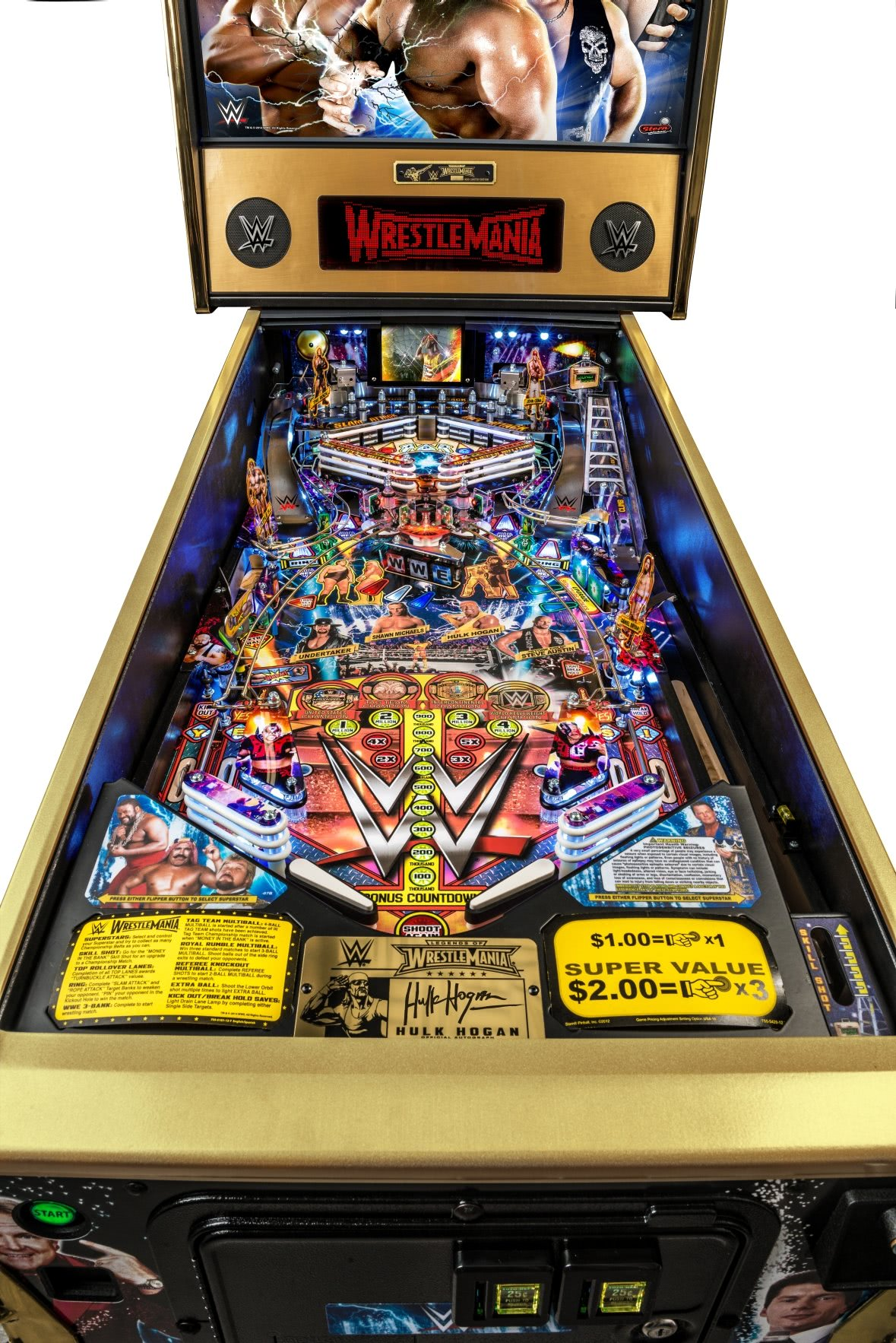 Neon Signs For Sale >> Stern WWE Wrestlemania LE Pinball Machine | Liberty Games
