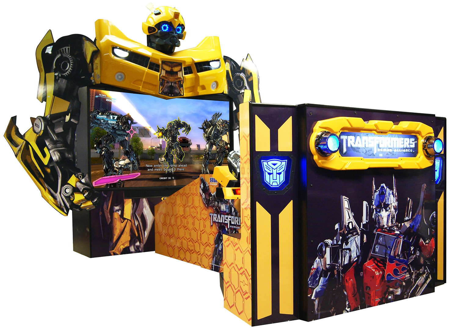 Transformers Human Alliance Arcade Game Let's Play Video At The ...