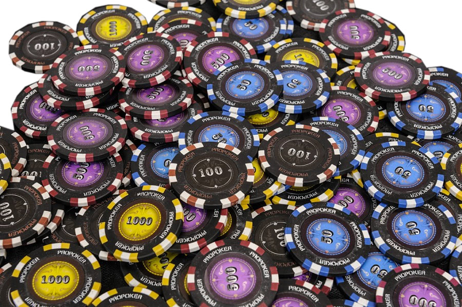 Pro Poker 500 Piece Numbered Poker Chip Set - 14g   Liberty Games