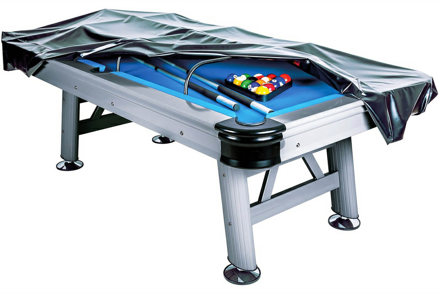 The Astral Outdoor Pool Table With Cover Half Fitted