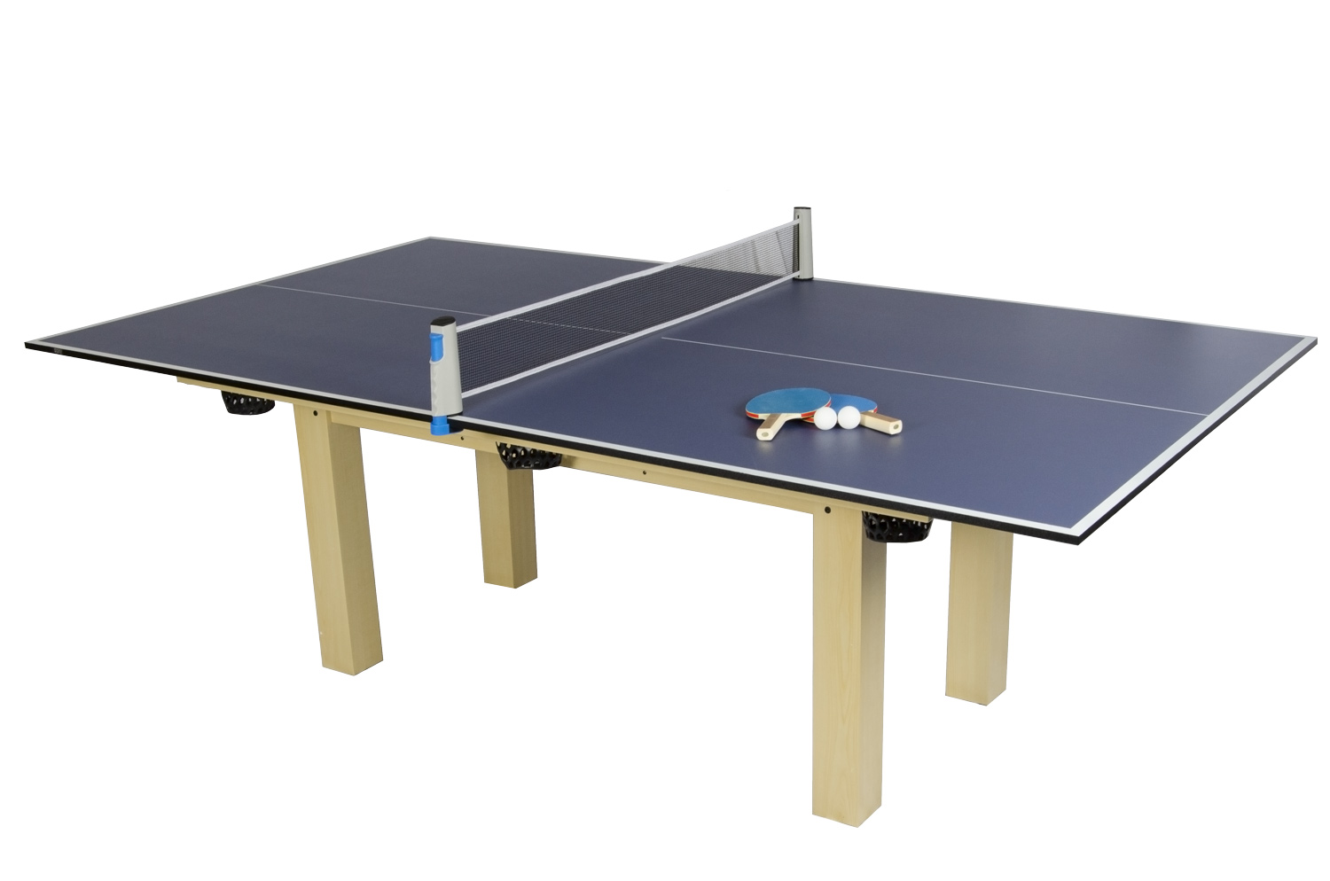 The Table Tennis Top Fitted To A Pool Table