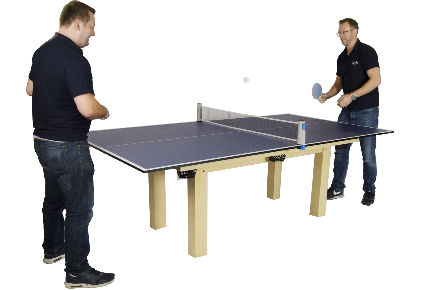 A Game On The Tekscore Table Tennis Top
