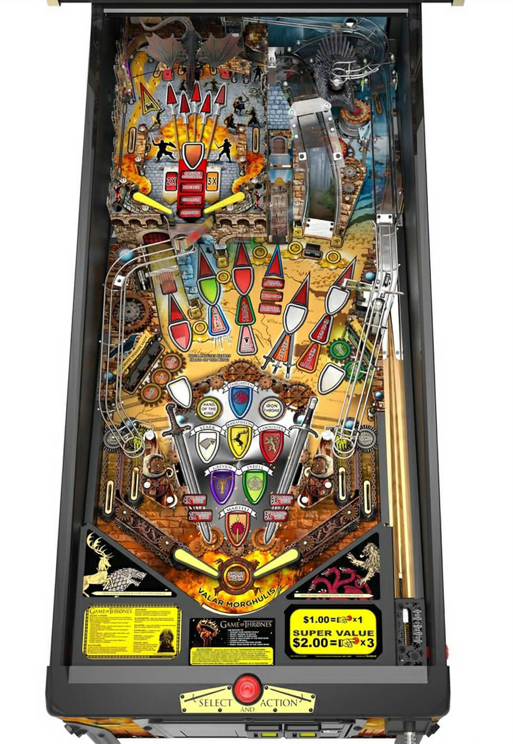 Game Of Thrones Limited Edition Pinball Machine Liberty
