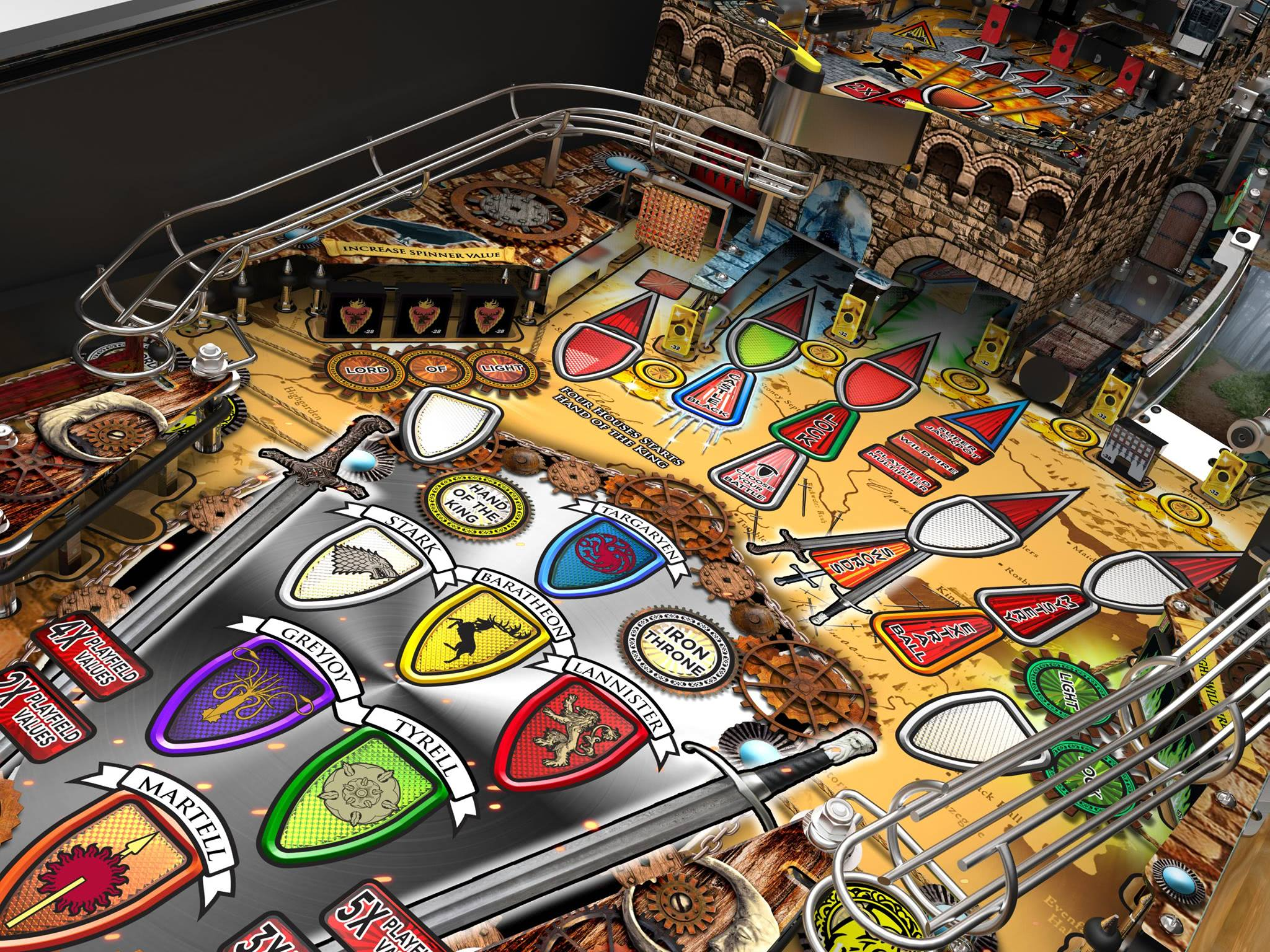 Game Of Thrones Premium Pinball Machine Liberty Games