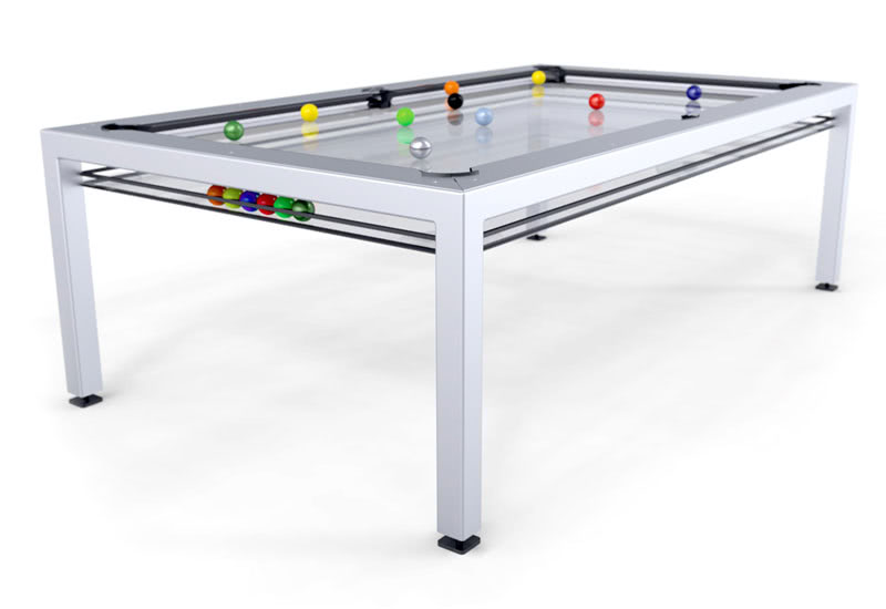 The G4 Phoenix Glass Pool Table In White