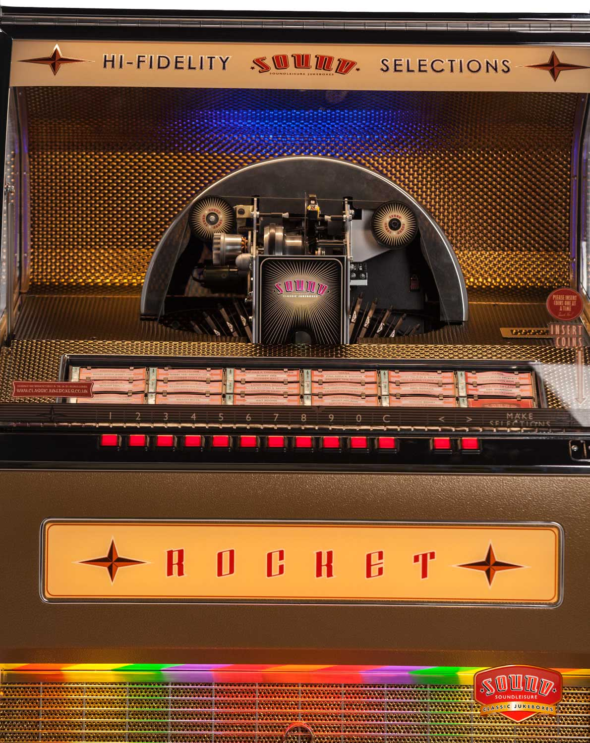Sound Leisure Rocket Vinyl Jukebox Liberty Games