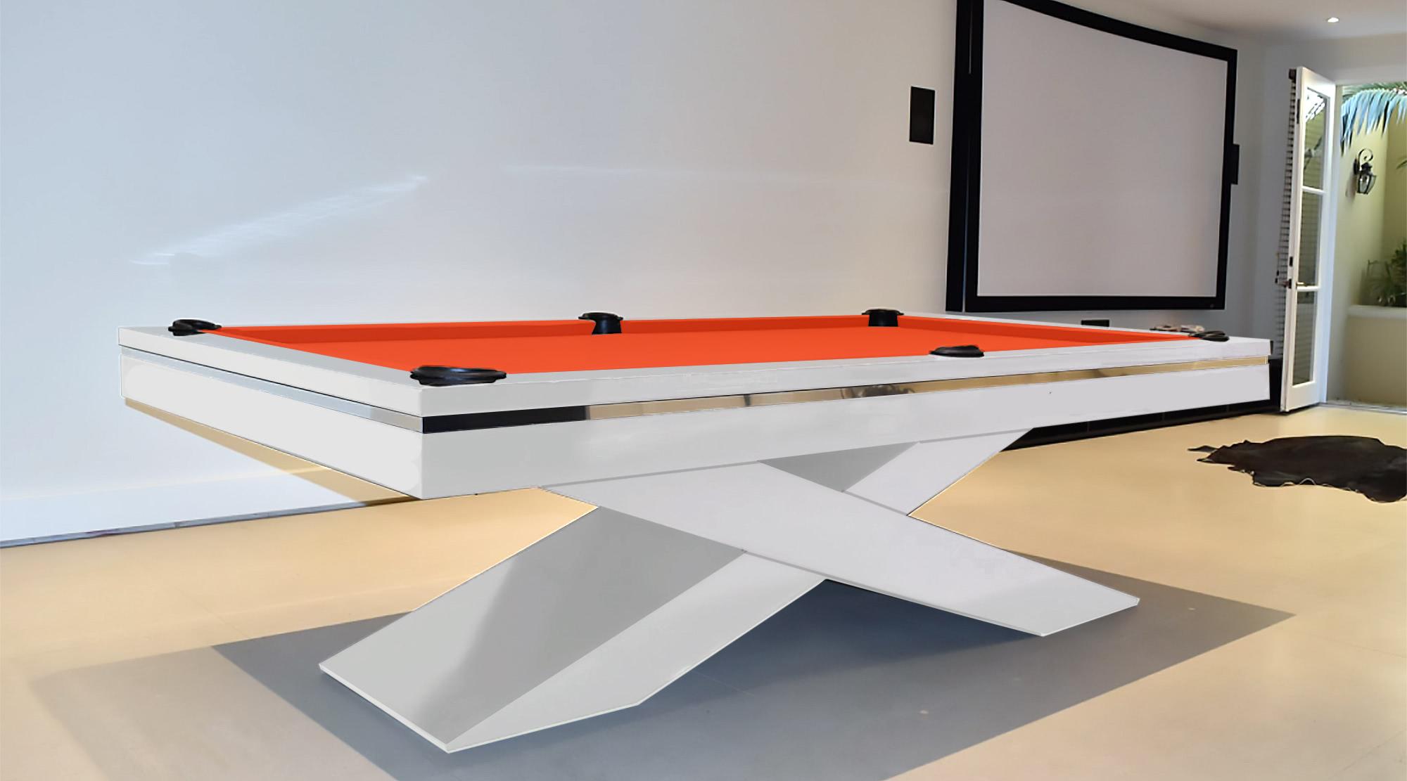 Olympus Pool Table Liberty Games - White billiard table