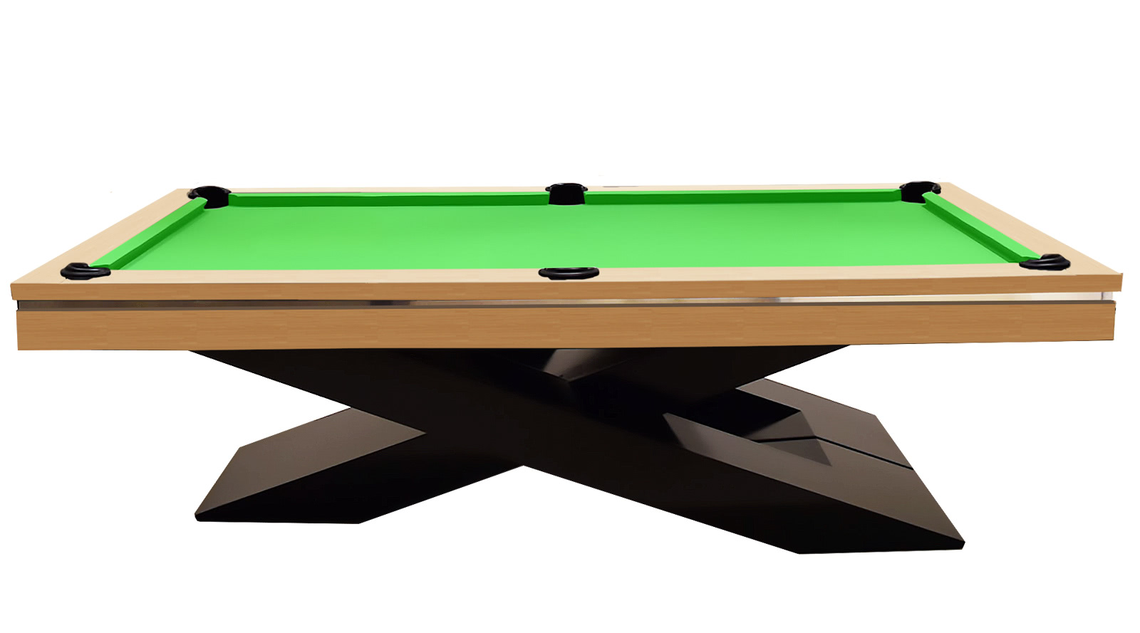 The Olympus Pool Table With Oak Veneered Body U0026 Black Legs