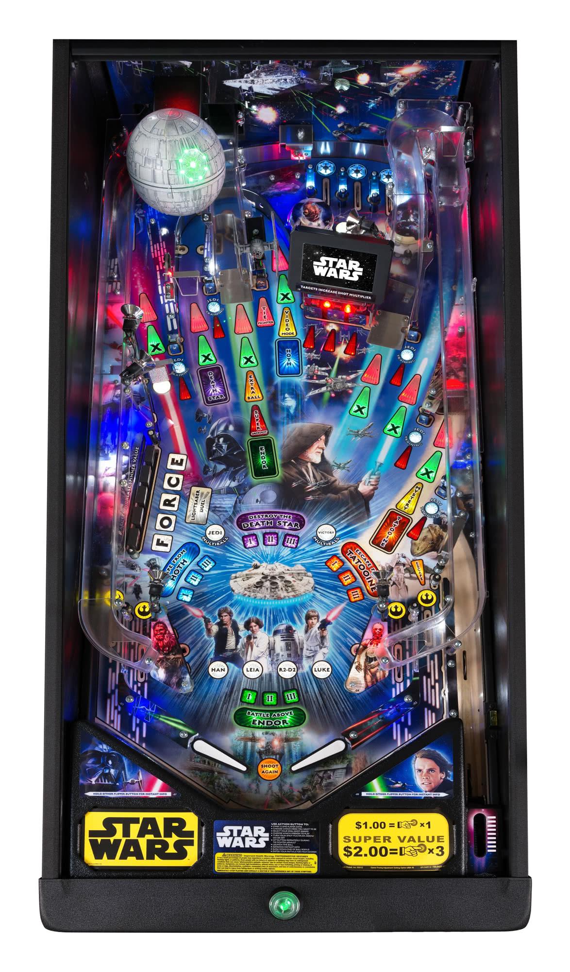 Star Wars Pinball Machine >> Stern Star Wars Pro Pinball Machine | Liberty Games