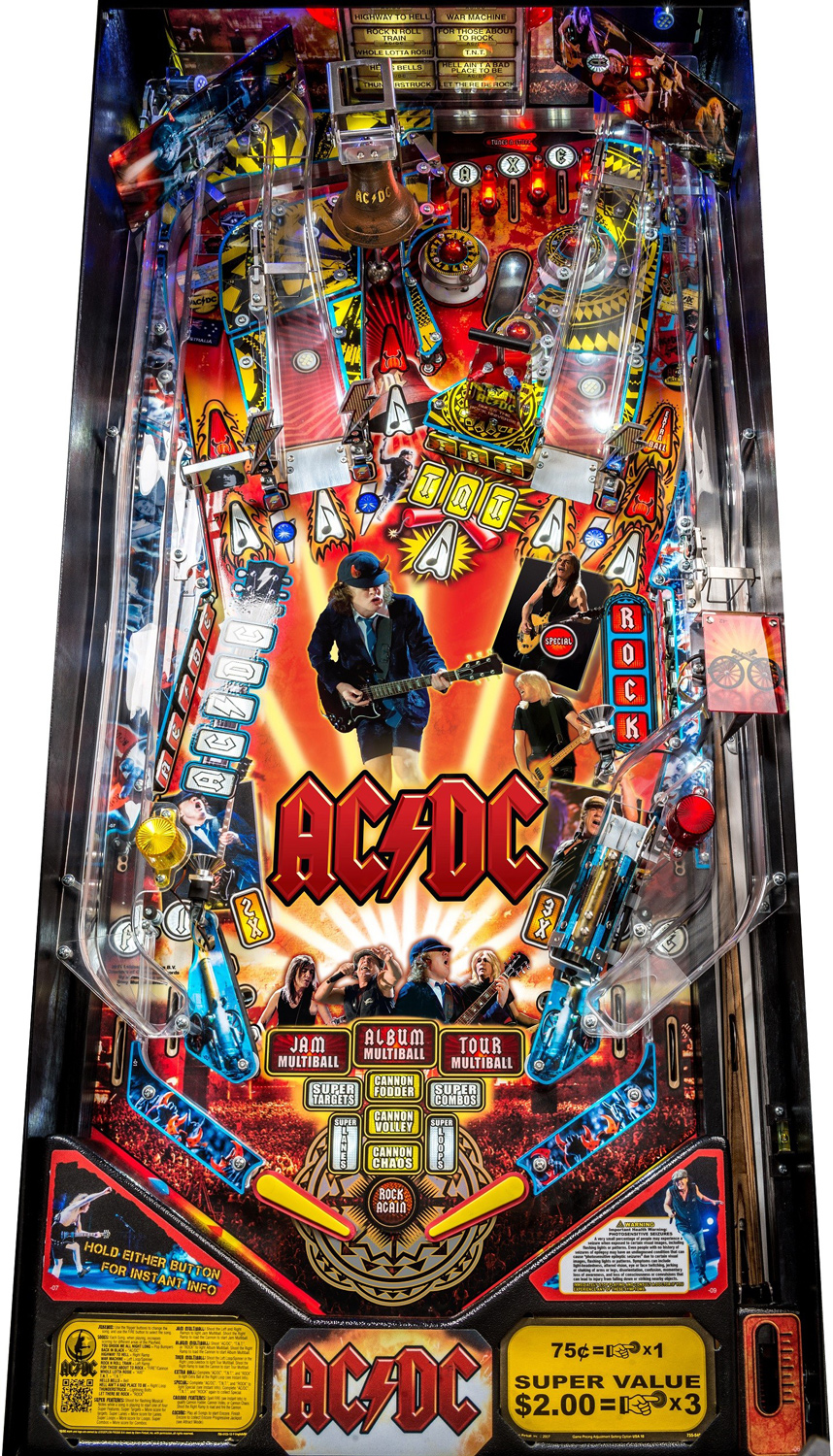 Stern Ac Dc Pro Vault Edition Pinball Machine Liberty Games