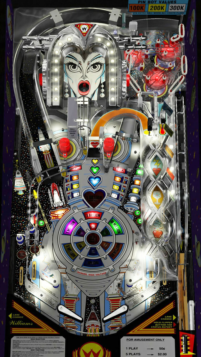 Multipin Virtual Pinball Machine Liberty Games