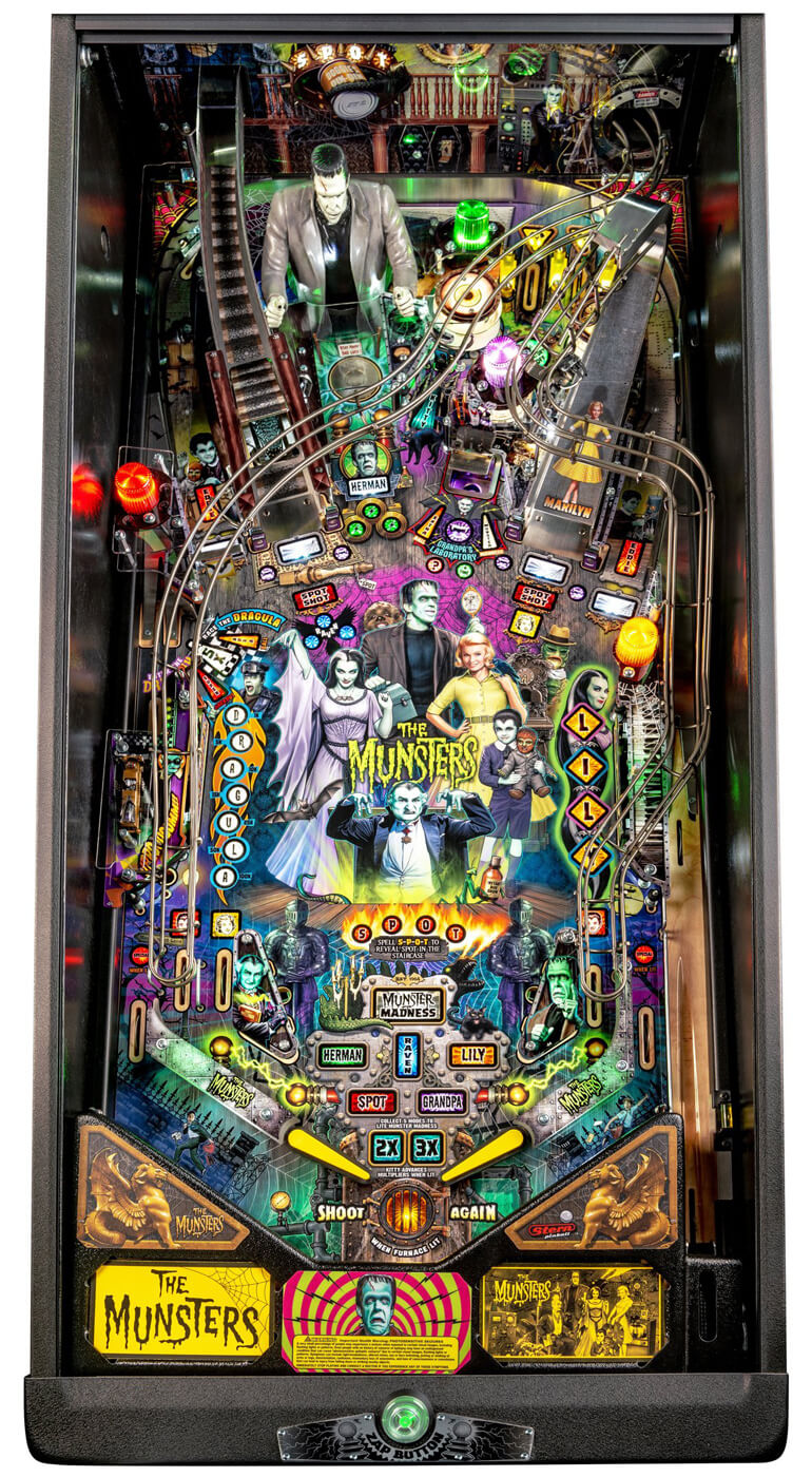 Neon Signs For Sale >> Stern The Munsters Pro Pinball Machine | Liberty Games