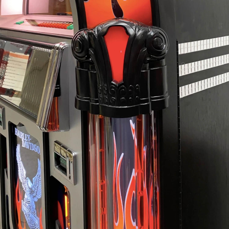 Rock-Ola Harley-Davidson Flames CD Jukebox