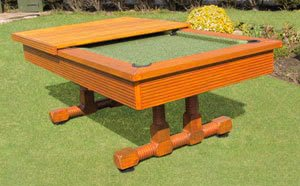 evergreen classic pool table on grass